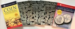 P And D Quarters 1999-2009 3 Folders And Coin Collecting Guide And Story Book
