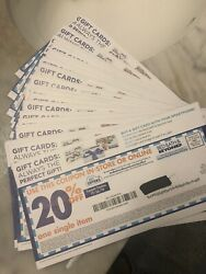 Lot Of 30 Bed Bath And Beyond Coupons 20 Off Single Item