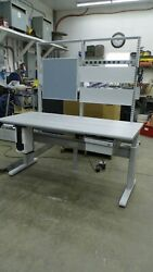 Bostontec 72 X 30x 77 Electric Adjustable Height Lab Work Station Bench/table