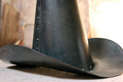 Antique Folk Art Painted Metal Milliners Top Hat Trade Sign Annie Gold London