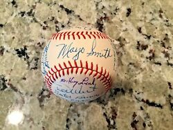 1967 Detroit Tigers Team Signed Official Aol Cronin Baseball With Mike Marshall