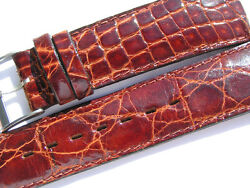 Breitling Band 23mm Croco Old Stock With Buckle Brown Marron Braun Strap Ib024
