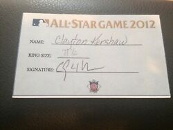 2012 Clayton Kershaw Signed All Star Ring Receipt Auto Mlb Los Angeles Dodgers