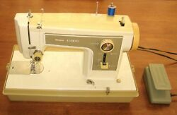 Sewing Machine Vintage Sears Model 158.12270 Zig-zag, Case And Manual