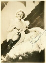 Loretta Young . Autograph . Habd Signed . 5-7 Inch .very Good Condition .