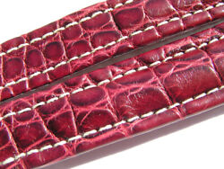 Breitling Band 19mm 19/16 115/80 Croco Red Brown Marron Strap 018-19