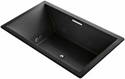 KOHLER K-1174-XH2G-7 Underscore 72-Inch x 42-Inch Drop-In Whirlpool Bubble Ma...