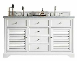 Traditional Double Vanity In Cottage White