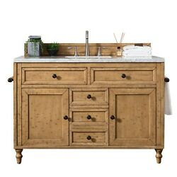 Copper Cove 48 Single Vanity Cabinet Driftwood Patina With 3 Cm Eternal Ja...
