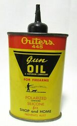 Vintage Outers 445 Gun Oil Can 3 Ounce Superior Lubricant Onalaska Wisconsin
