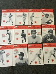 Vintage 1960and039s Meet The Dodger Family Union Oil 76 Company Booklet Lot