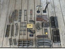 Lionel - American Flyer Model Train Tracks And Assorted Accessories - Over 60 Pcs