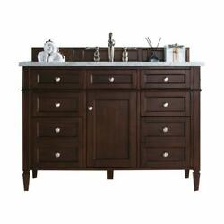 Brittany 48 Single Cabinet Burnished Mahogany With 3 Cm Charcoal Soapstone Q...