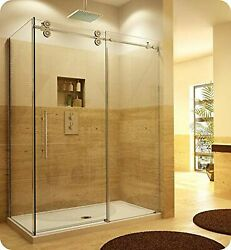 Fleurco Ktpr4536-11-40r Kinetik In-line Sliding Shower Door Right With Fixed ...