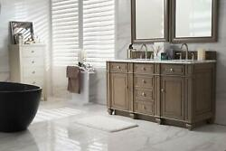 James Martin Bristol 60 Double Vanity -white Washed Walnut Top Not Included