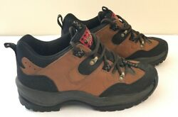 Woolrich Trail Hiking Low Top Boot Brown Leather Shoe Men Size 9 W4110a