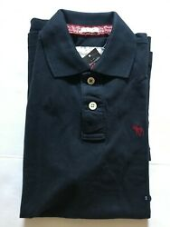 Nwt Abercrombie And Fitch Men's Polo Shirt Muscle Navy Blue Size S, M, Xxl