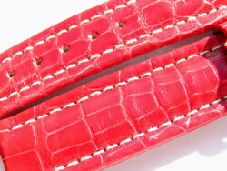 18mm Breitling Croco Band 512p Red Roja Strap 033-18