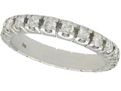 Vintage 1ct Diamond And 15ct White Gold Full Eternity Ring Size 6.75