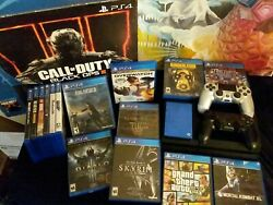Sony Playstation 4 Ps4 Mega Lot Plus With 15 Games, 2 Dualshock, 4tb Hard Drive