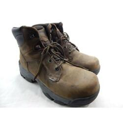 Wolverine W10257 Merlin Menand039s Brown Boots 8.5m