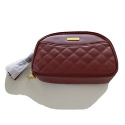 Joy amp; Iman Red Leather Quilted Crossbody Handbags New Wrapped With Stuffing $29.16