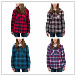 Boston Traders Ladies#x27; Sherpa Lined Hooded Flannel