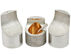 Vintage Sterling Silver Condiment Set By Grant Macdonald Silversmiths
