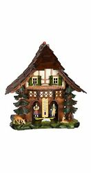 German Black Forest Weather House With Wooden Figures Tu 865 New