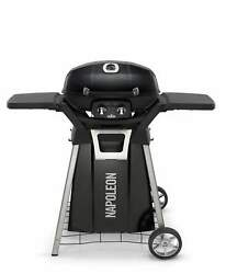 Napoleon Travelq Pro285 Portable Tabletop Grill On Cart, Natural Gas