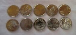 2013 Pandd National Park Quarters 10 Coin Set - From Us Mint Rolls