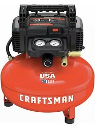 Craftsman Air Compressor 6 Gallon Pancake Oil-free With 13 Piece Accessory Kit