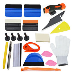 Vehicle Window Tint Tools Kit Vinyl Wrap Squeegee Cleaning Scraper Car Stickers