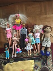 Vtg Lot 11 Barbie Dolls Ken 1960s Others Doll Outfits Unmarked Awesome Play