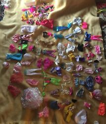 Lot 65 Outfits For Dolls Barbie Size Colorful Fun Clothes Accessories Bargains