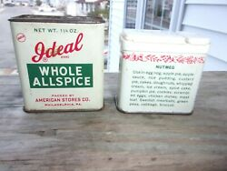 Lot Of 2 Antique Spice Tins Ideal And Durkee