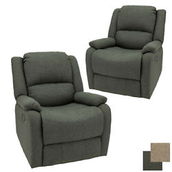 Recpro Charles 30 Rv Swivel Glider Recliner Sgr Fossil Cloth Chair 2-pack
