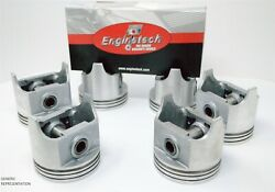 1963-1983 Ford Mercury Car 3.3l 200 L6 12v - 6 Dish Top Pistons And Moly Rings