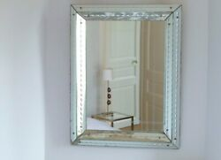 French Art Deco Mirror Attributed To Jacques Adet 1940s