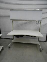 60 X 36 X 74 Laboratory Bench/table With S.and S. 200004 X-ray Film Illuminator