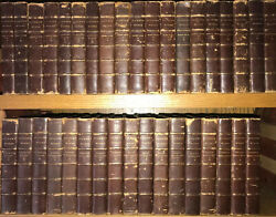 Leather Setworks Of Charles Dickens Massive 46vol Complete Antiquarian1891