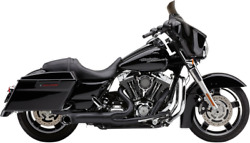 Cobra Turnout 2-into-1 Exhaust System, Black Harley Flh, Flt Touring 2009-2016