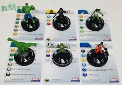 Heroclix Incredible Hulk Set Complete 6-figure Fast Forces Lot W/cards