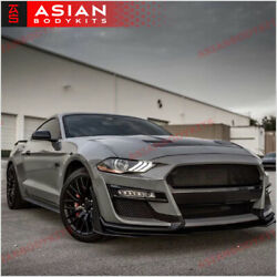 Conversion Body Kit Gt500 For Ford Mustang 2018+ Front Bumper Side Skirts