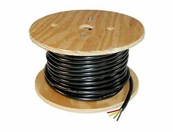 Trailer Light Cable Wiring Harness 14 Gauge 4 Wire Jacketed Black Flexible 100'