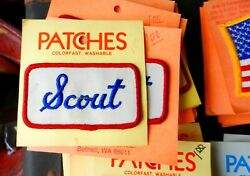 HOLM PATCHES SCOUT SEW ON PATCH BLUE WHITE & RED VINTAGE PATCH