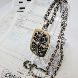 Chrome Hearts Keeper Pendant 20 Inch Paper Chain