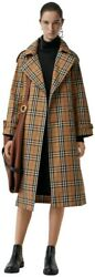 Womens Antique Yellow Eastheath Check Trench Coat Us6/uk8/it40