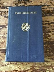 Navy Watch Officer's Guide Dated 1930 With Insert