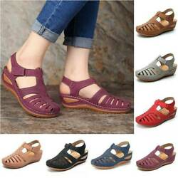 Women Orthopedic Sandals Comfy Closed Toe Mules Summer Slippers Flat Shoes Size $24.49